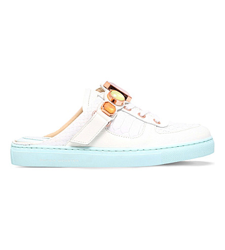 SOPHIA WEBSTER Jessie leather trainers (White