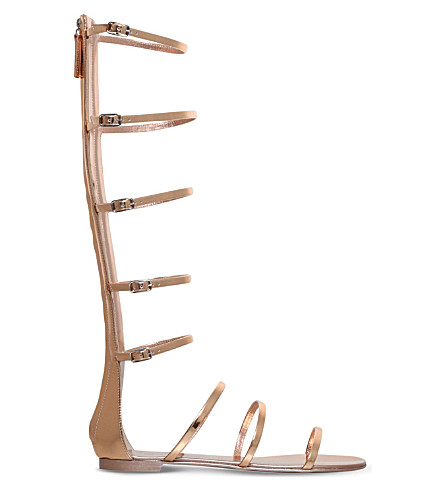 GIUSEPPE ZANOTTI Cabot metallic-leather gladiator sandals (Gold+comb