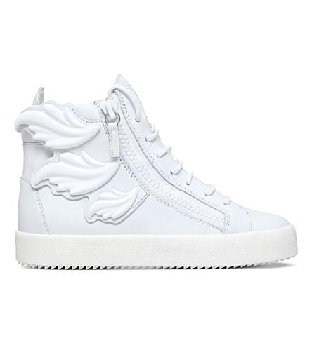 GIUSEPPE ZANOTTI Triple Wing Kanye high-top trainers (White