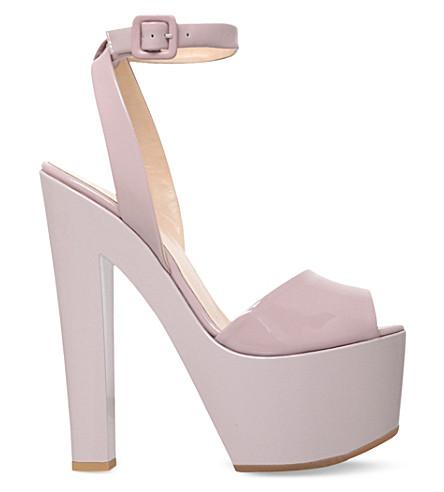 GIUSEPPE ZANOTTI Betty patent leather heeled sandals (Nude