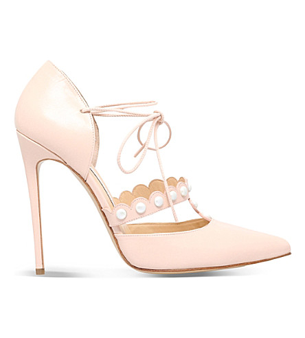 BIONDA CASTANA Giulietta 120 leather heeled courts (Nude