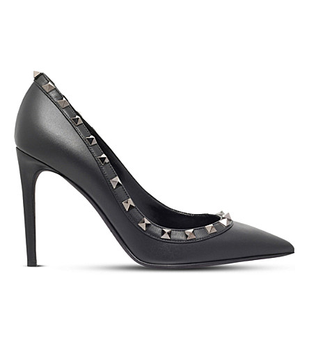 VALENTINO So Noir 100 leather pumps (Black