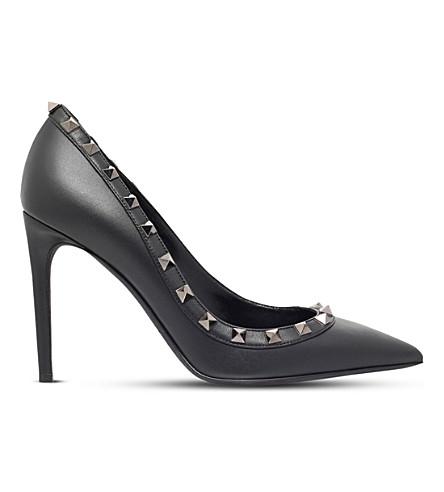 VALENTINO 如此黑色100皮高帮跟鞋 (黑