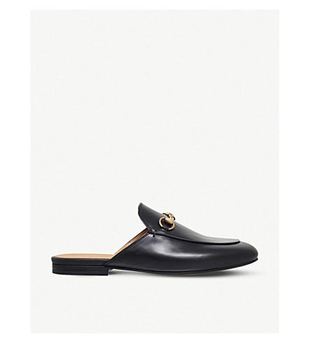 GUCCI Princetown leather backless loafers (Black