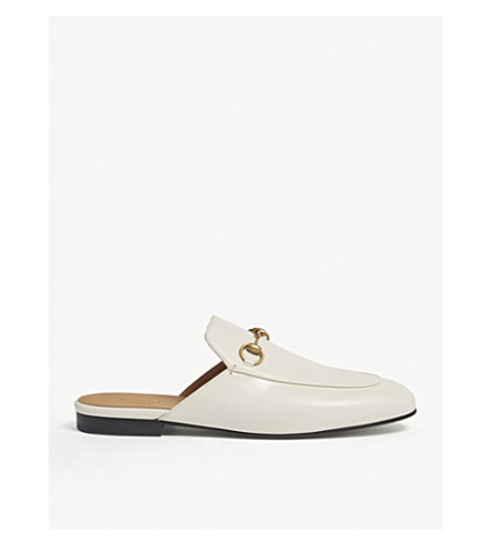 GUCCI Princetown leather slippers (White