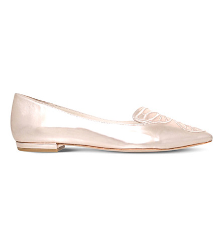 SOPHIA WEBSTER Bibi butterfly leather flats (Gold