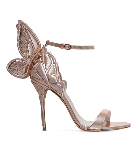 SOPHIA WEBSTER Chiara embroidered metallic-leather sandals (Bronze