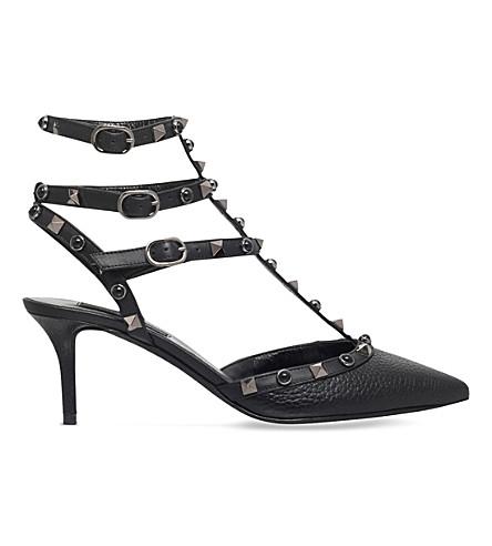 VALENTINO Rockstud 65 so noir leather sandals (Black