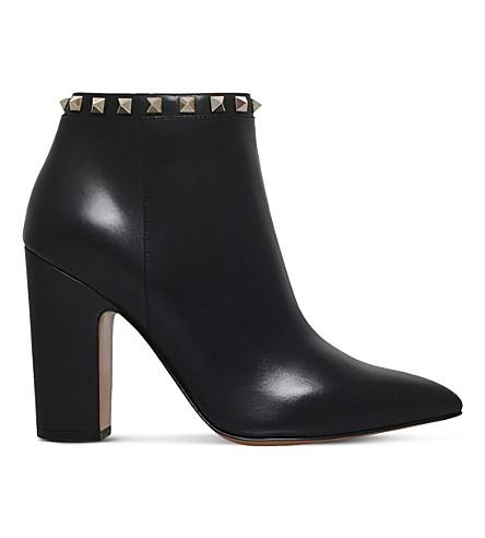 VALENTINO Rockstud leather heeled ankle boots (Black