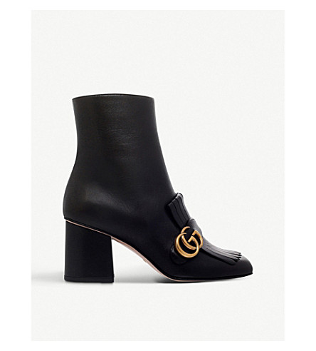 GUCCI Marmont leather ankle boots (Black