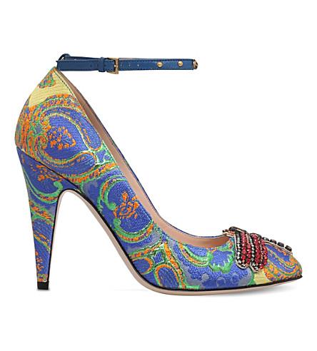 GUCCI Gish 105 embellished jacquard heels (Mult/other