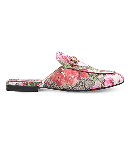 GUCCI Princetown printed slippers (Pink comb