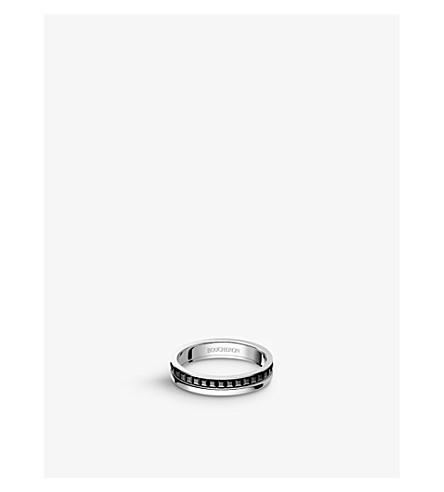 BOUCHERON Quatre Black Edition 18ct white-gold wedding band