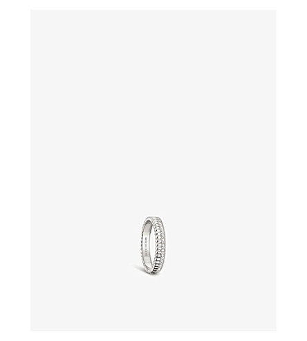 BOUCHERON 四辐射版18ct 白金和钻石婚礼带