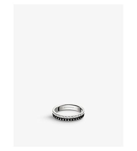 BOUCHERON 四黑版18ct 白金和钻石婚礼带