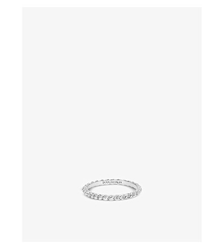 BOUCHERON Serpent Bohème 18ct white-gold wedding band