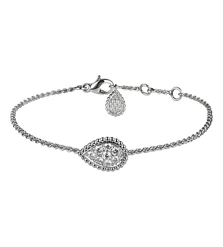 BOUCHERON Serpent Boheme 18ct white-gold and diamond bracelet