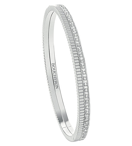 BOUCHERON Quatre Radiant Edition 18ct white and yellow-gold diamond bangle bracelet
