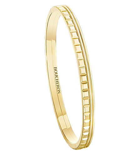 BOUCHERON Quatre Radiant Edition 18ct yellow-gold bangle bracelet
