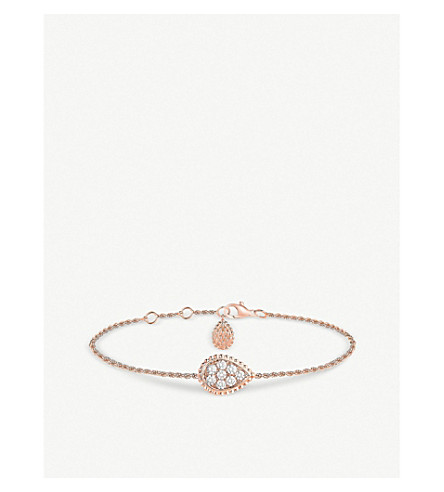 BOUCHERON Serpent Boheme 18ct rose gold and diamond bracelet