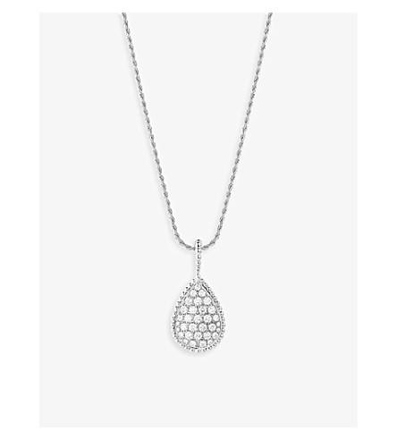BOUCHERON 蛇 Bohème 18k 白色黄金和钻石项链