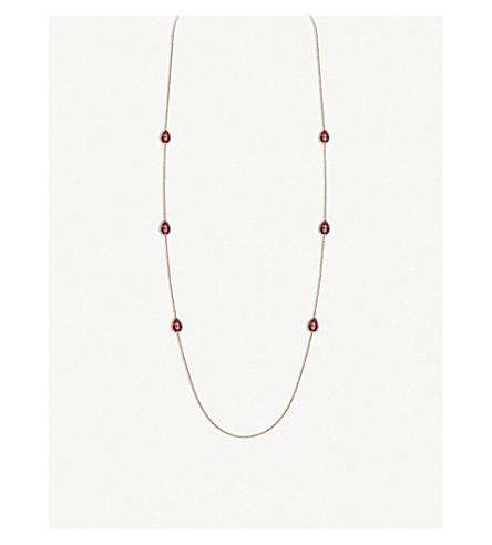 BOUCHERON Serpent Bohème 18ct pink-gold and rhodolite garnet necklace
