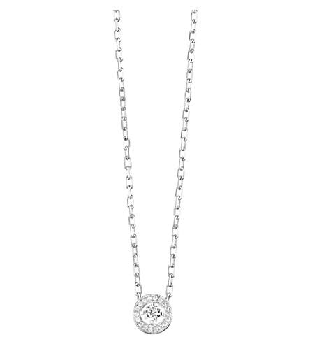 BOUCHERON 艾娃18ct 白金和钻石圆坠项链