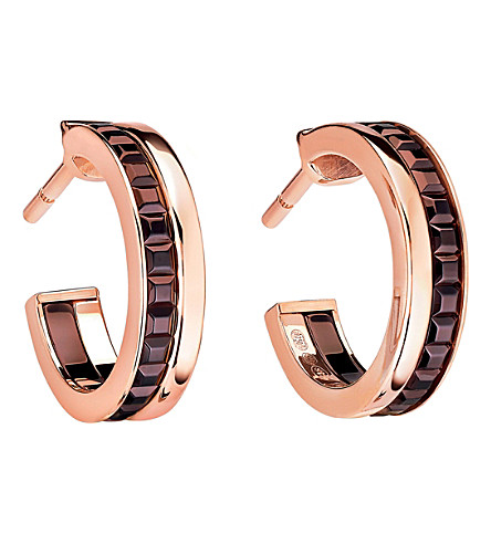 BOUCHERON Quatre Classique 18ct pink-gold hoop earrings