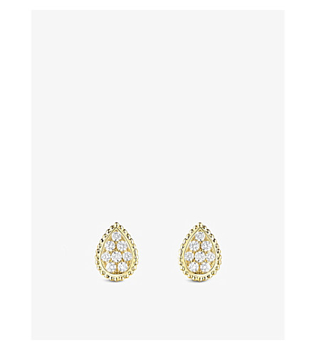 BOUCHERON Serpent Bohème 18ct yellow-gold and diamond stud earrings
