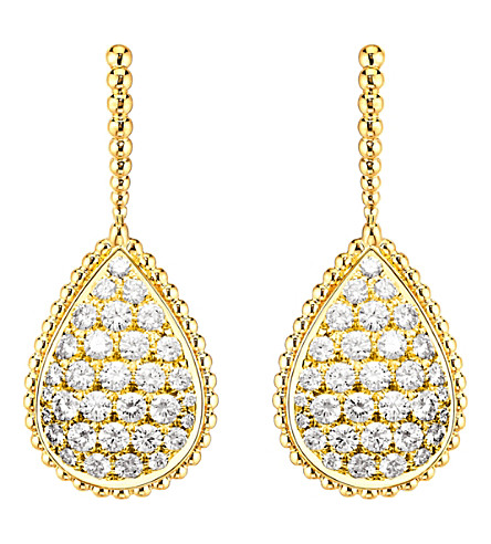 BOUCHERON Serpent Bohème 18ct yellow-gold and diamond earrings