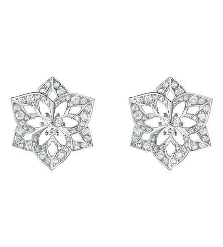 BOUCHERON Pensée de Diamants 18ct white-gold stud earrings