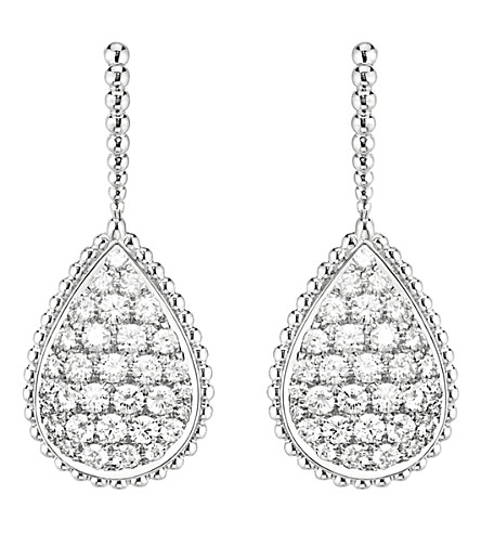 BOUCHERON Serpent Bohème 18ct white-gold and diamond earrings