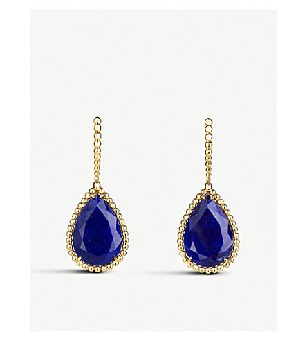 BOUCHERON Serpent Bohème 18ct yellow-gold and lapis lazuli earrings