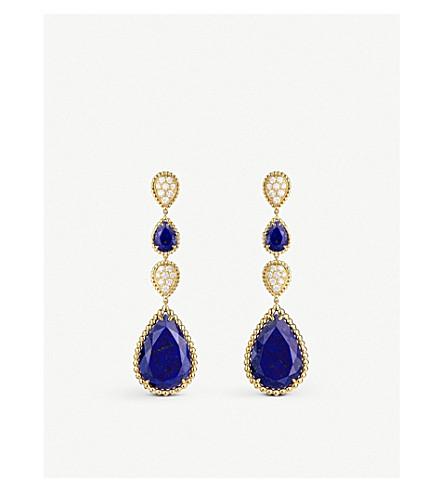 BOUCHERON Serpent Bohème 18ct yellow-gold, lapis lazulis and diamond pendant earrings