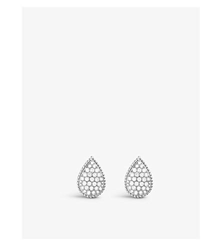BOUCHERON Serpent Bohème 18ct white-gold and diamond earrings