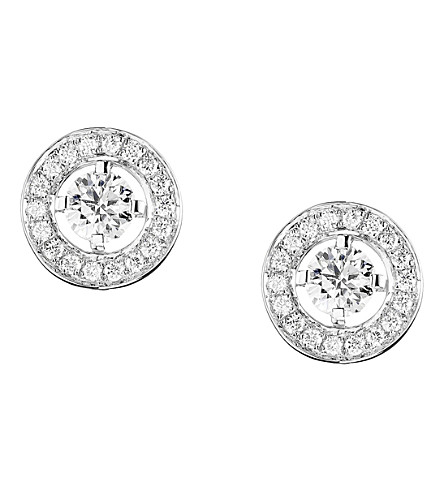 BOUCHERON Ava 18ct white-gold and diamond stud earrings