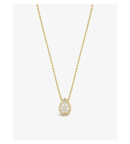 BOUCHERON Serpent Bohème 18ct yellow-gold and diamond pendant necklace