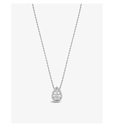BOUCHERON Serpent Bohème 18ct white-gold and diamond pendant necklace