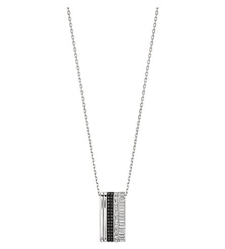 BOUCHERON Quatre Black Edition 18ct white-gold and diamond pendant necklace
