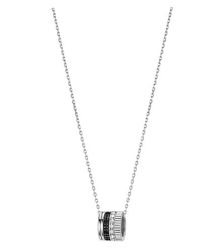 BOUCHERON 四黑色版18ct 白金和钻石坠项链