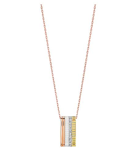 BOUCHERON 四白色版18ct 粉红色-金色, 金黄色, 白金和钻石项链
