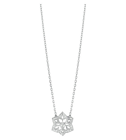 BOUCHERON Pensée de Diamants 18ct white-gold and diamond small pendant