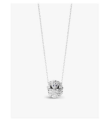 BOUCHERON Hans the Hedgehog 18ct white-gold, diamond and sapphire necklace