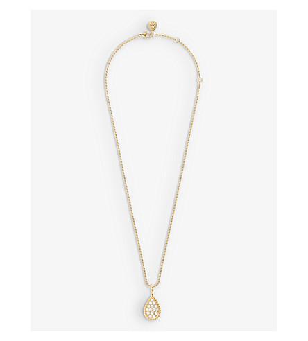 BOUCHERON 蛇 Bohème 绒球 18 ct-黄金和钻石项链