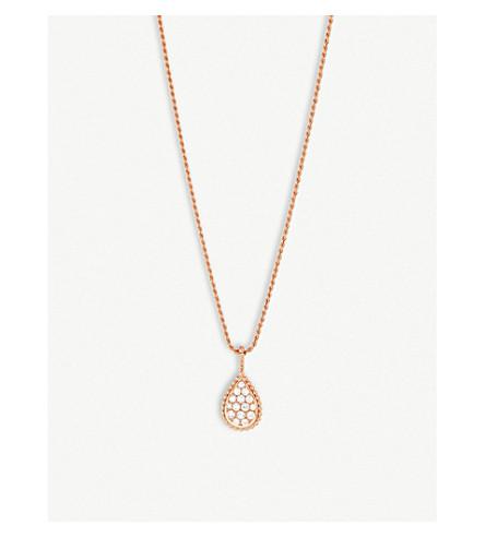 BOUCHERON Serpent Bohème pavé diamond and 18ct pink-gold long necklace