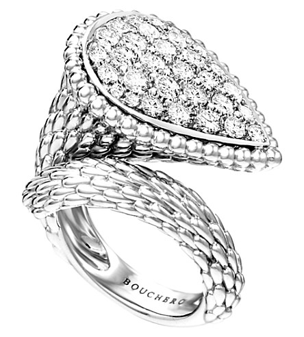 BOUCHERON Serpent Bohème 18ct white-gold and diamond ring