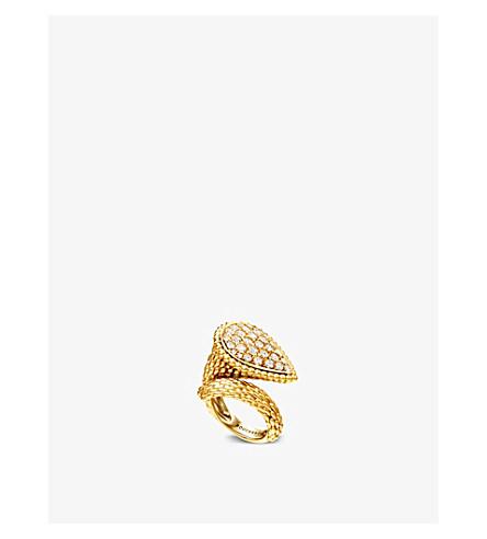 BOUCHERON 蛇 Bohème 18ct 黄色金子和金刚石圆环