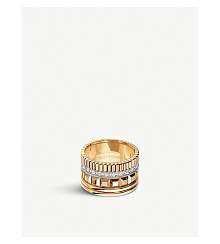 BOUCHERON Quatre Radiant Edition 18ct yellow-gold and diamond ring