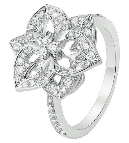 BOUCHERON Pensée de Diamants 18ct white-gold small ring