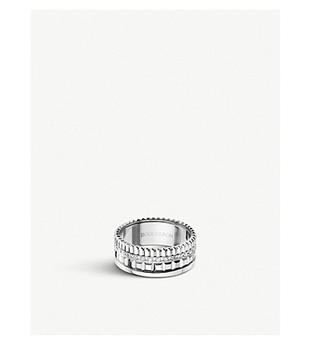 BOUCHERON Quatre Radiant Edition white-gold and diamond ring